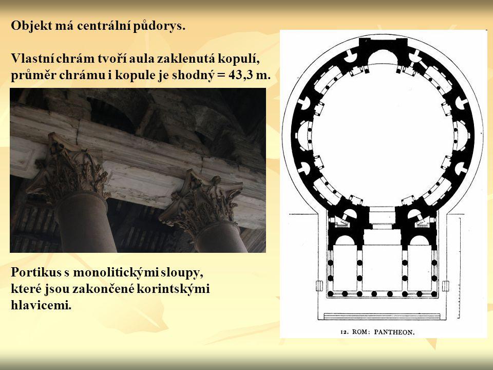 Objekt má centrální půdorys. Vlastní chrám tvoří aula zaklenutá kopulí, průměr chrámu i kopule je shodný = 43,3 m. Portikus s monolitickými sloupy, kt