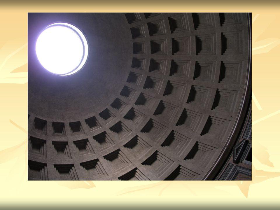interiér Vnitřek Pantheonu je velmi zachovalý.