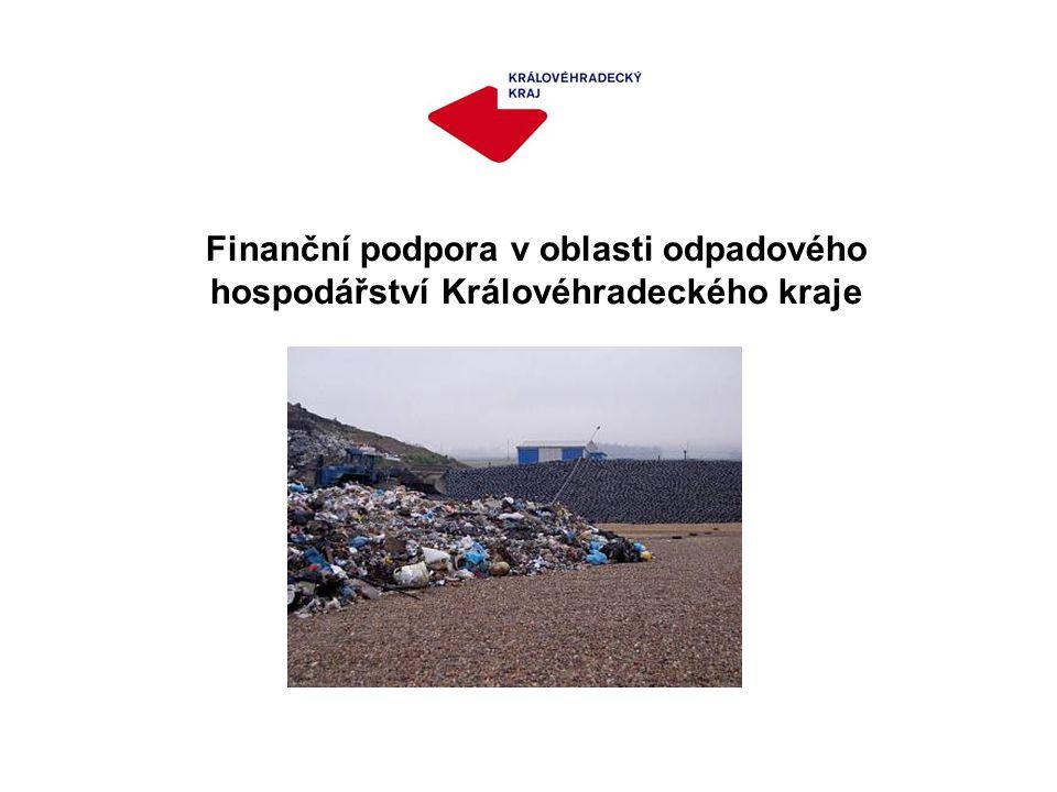 Finanční podpora v oblasti odpadového hospodářství Královéhradeckého kraje