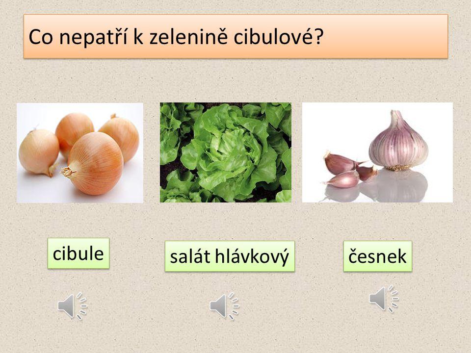 Co jíme u zeleniny plodové? 1.listy 2. kořen 3. plod 4. květ