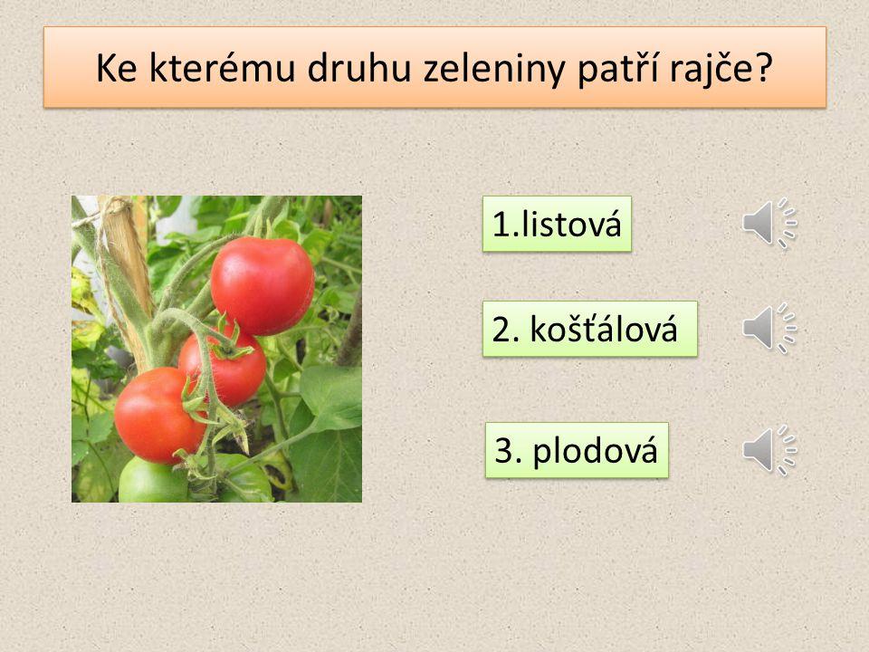 Ke kterému druhu zeleniny patří petržel? 1. listová 2. kořenová 3. plodová