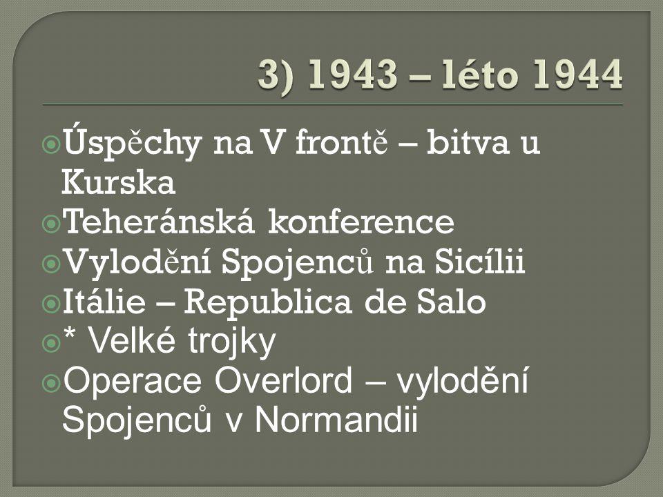  Ardeny – N ofenzíva  Jaltská konference  Dobytí Berlína  Pra ž ská operace Rudé armády  Všeobecná kapitulace N