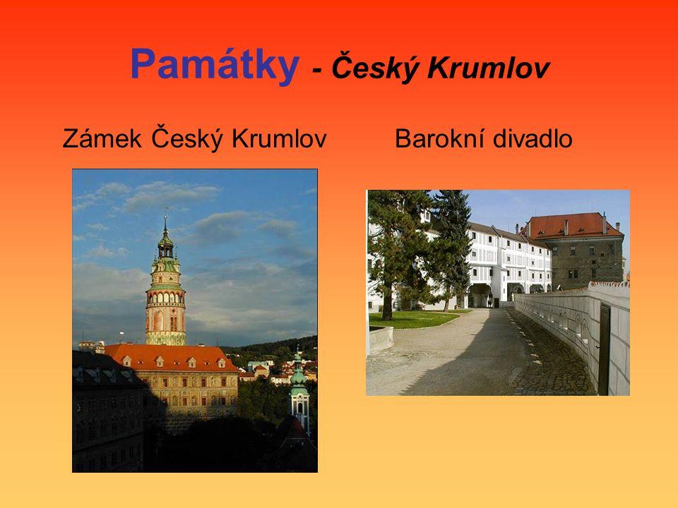 Památky - Český Krumlov Zámek Český Krumlov Barokní divadlo