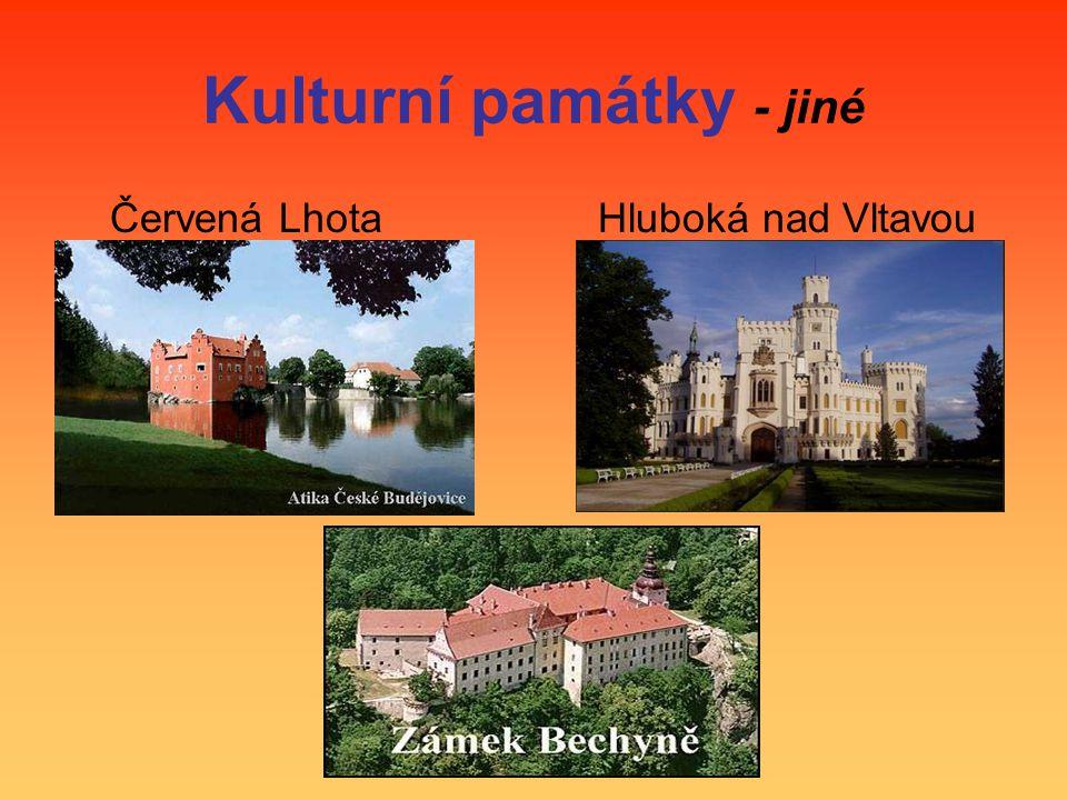 Kulturní památky - jiné Červená Lhota Hluboká nad Vltavou