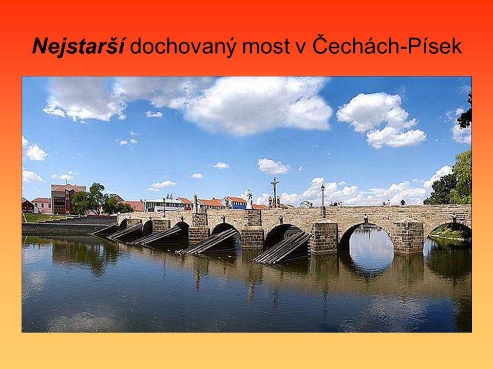 Nejstarší dochovaný most v Čechách-Písek