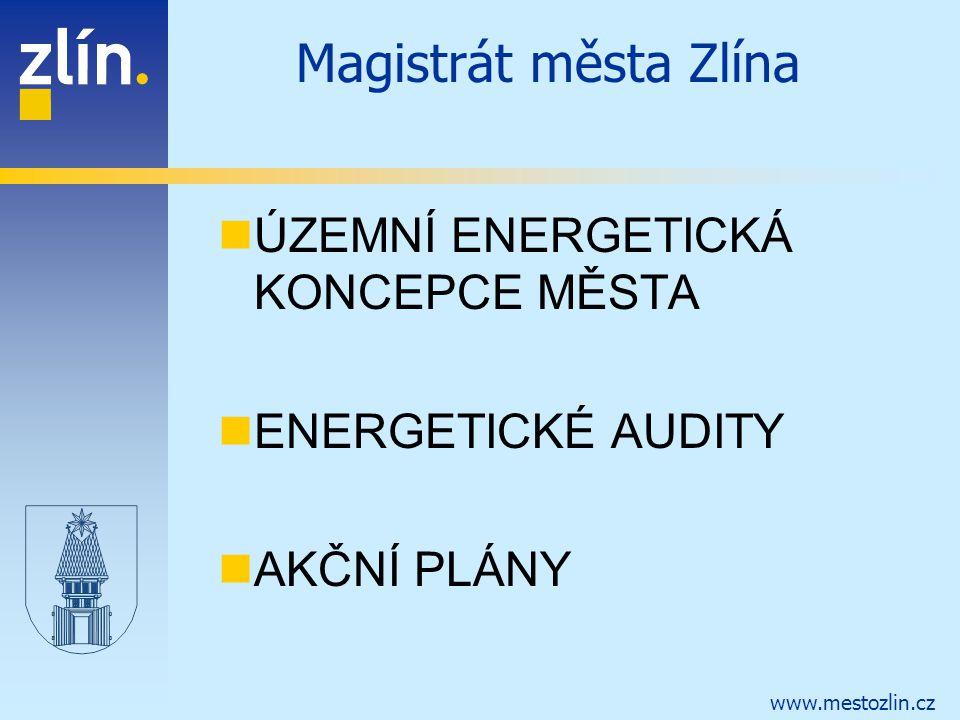 www.mestozlin.cz Magistrát města Zlína ÚZEMNÍ ENERGETICKÁ KONCEPCE MĚSTA ENERGETICKÉ AUDITY AKČNÍ PLÁNY