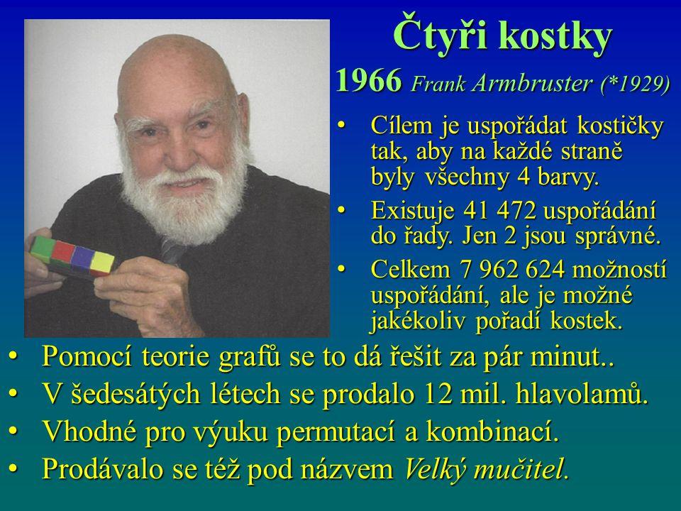 Rubikova kostka 1974 Ernó Rubik (*1944) maďarský sochař a architekt Do roku 1982 se prodalo více než 10 mil.