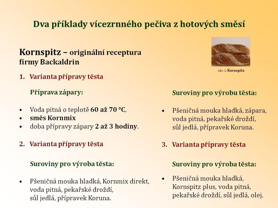 Výroba těsta: Při použití směsí Kornmix direkt a Kornspitz plus – viz 2.