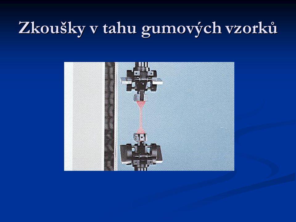 Zkoušky v tahu Zkouška vtahu pláště kabelu Zkouška vtahu pláště kabelu Plasty Pěnové materiály Elastomery Kovy Dráty