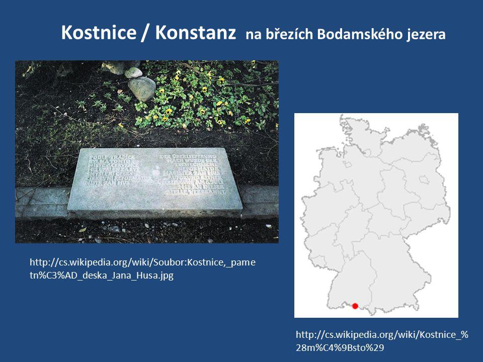 Kostnice / Konstanz na březích Bodamského jezera http://cs.wikipedia.org/wiki/Kostnice_% 28m%C4%9Bsto%29 http://cs.wikipedia.org/wiki/Soubor:Kostnice,