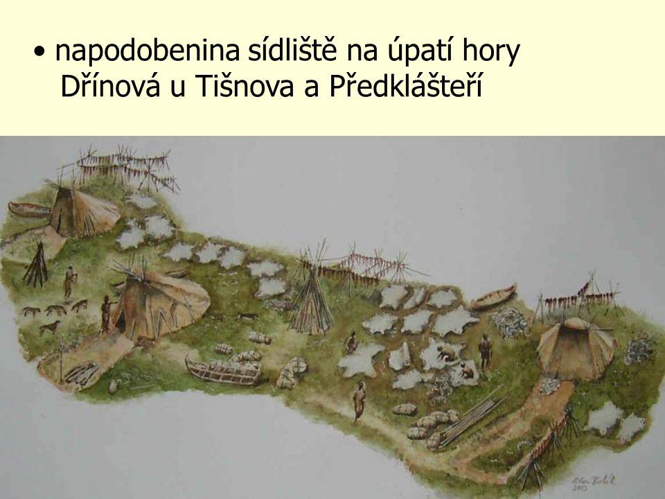 napodobenina sídliště na úpatí hory Dřínová u Tišnova a Předklášteří
