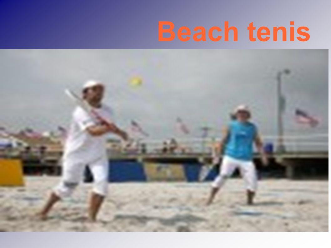 Plážový tenis Hybridní sport- směs tenisu, plážového volejbalu a badmintonu Hraje se v různých verzích v Austrálii, Itálii, Japonsku, Španělsku, Francii, USA a dalších 50 zemích  Evropa Začal se hrát již roku 1978 na plážích v okolí italské Ravenny a jeho zakladatel Gianni Bellettini je dnes prezidentem Italské federace plážového tenisu – IFBT Itálie se zasloužila o vznik a rozšíření varianty beach paddle tennis, kdy se hraje s pálkou podobnou tenisové, ale její vnitřní část není tvořena výpletem ze strun, ale celistvou pevnou plochou.