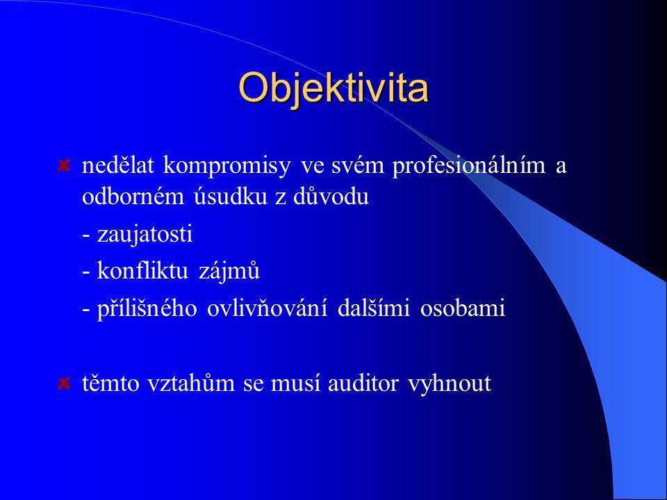 Odborná způsobilost a řádná péče udržovat si odborné znalosti a dovednosti na požadované úrovni tak, aby bylo zajištěno poskytnutí kvalifikované odborné služby získání + udržování odborné způsobilosti používání ROZUMNÉHO ÚSUDKU při aplikaci odborných znalostí a zkušeností