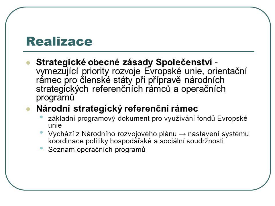 Realizace Strategické obecné zásady Společenství - vymezující priority rozvoje Evropské unie, orientační rámec pro členské státy při přípravě národníc