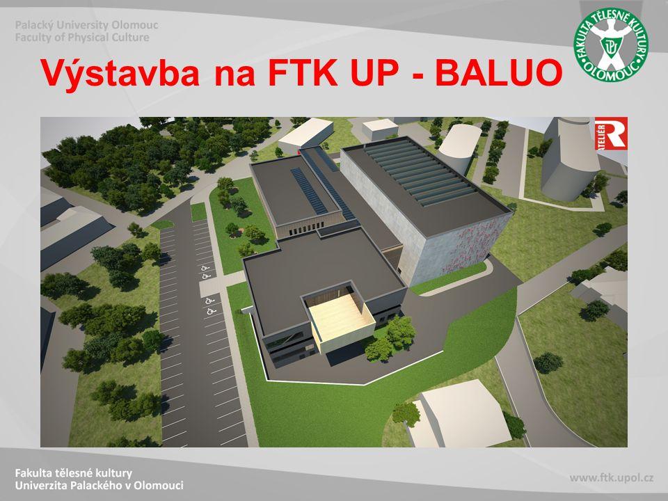 Výstavba na FTK UP - BALUO