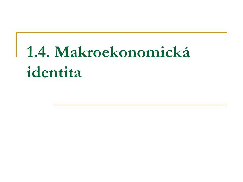 1.4. Makroekonomická identita
