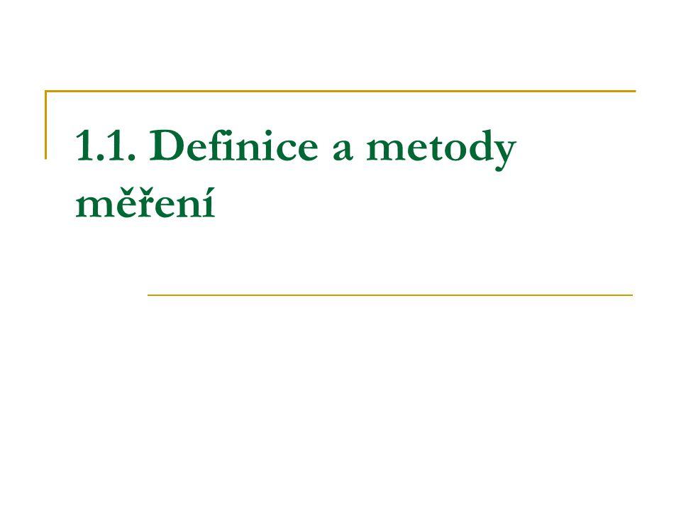 1.1. Definice a metody měření