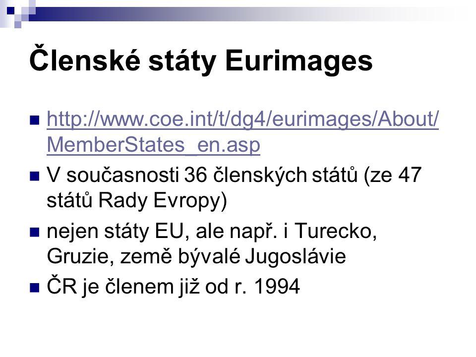 Členské státy Eurimages http://www.coe.int/t/dg4/eurimages/About/ MemberStates_en.asp http://www.coe.int/t/dg4/eurimages/About/ MemberStates_en.asp V