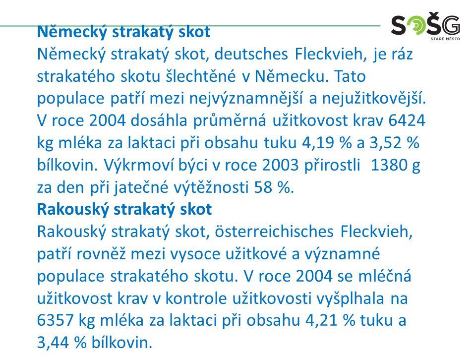 Slovenský strakatý Obecně se jedná o skot středního až vyššího tělesného rámce, s výškou krav v dospělosti mezi 138 - 145 cm při živé hmotnosti 650 - 750 kg.