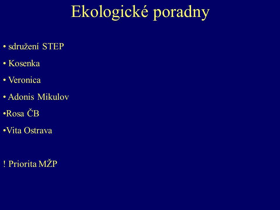 Ekologické poradny sdružení STEP Kosenka Veronica Adonis Mikulov Rosa ČB Vita Ostrava .