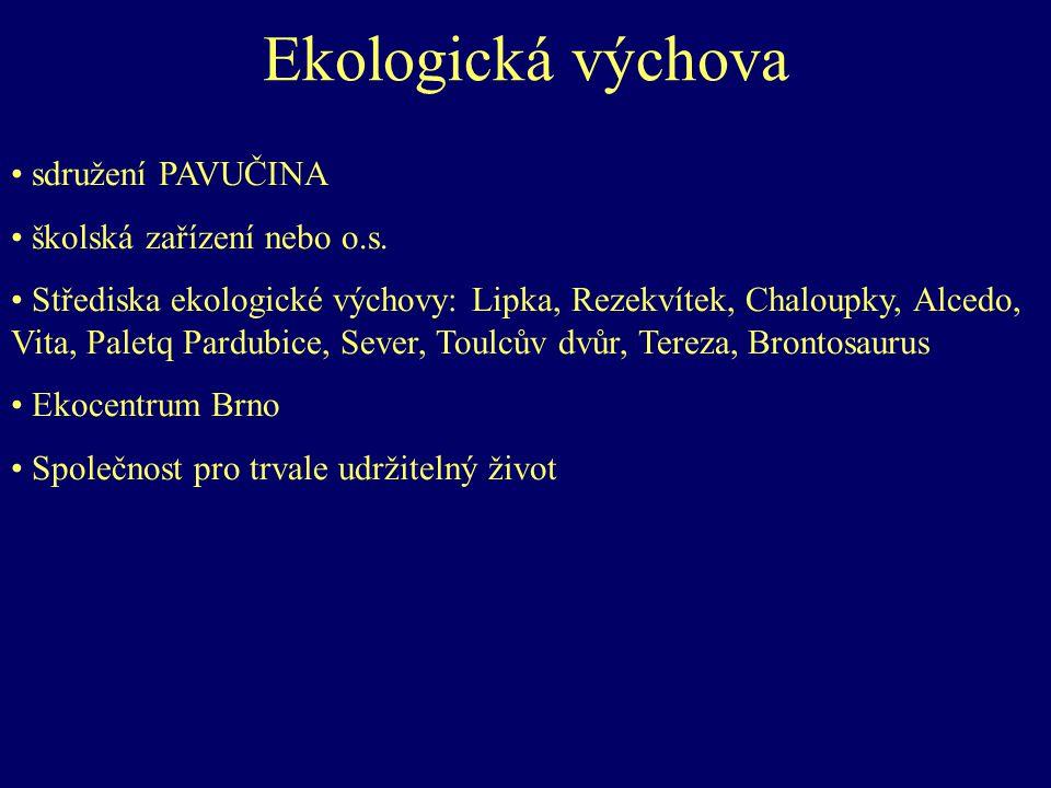 Ekologická výchova sdružení PAVUČINA školská zařízení nebo o.s.
