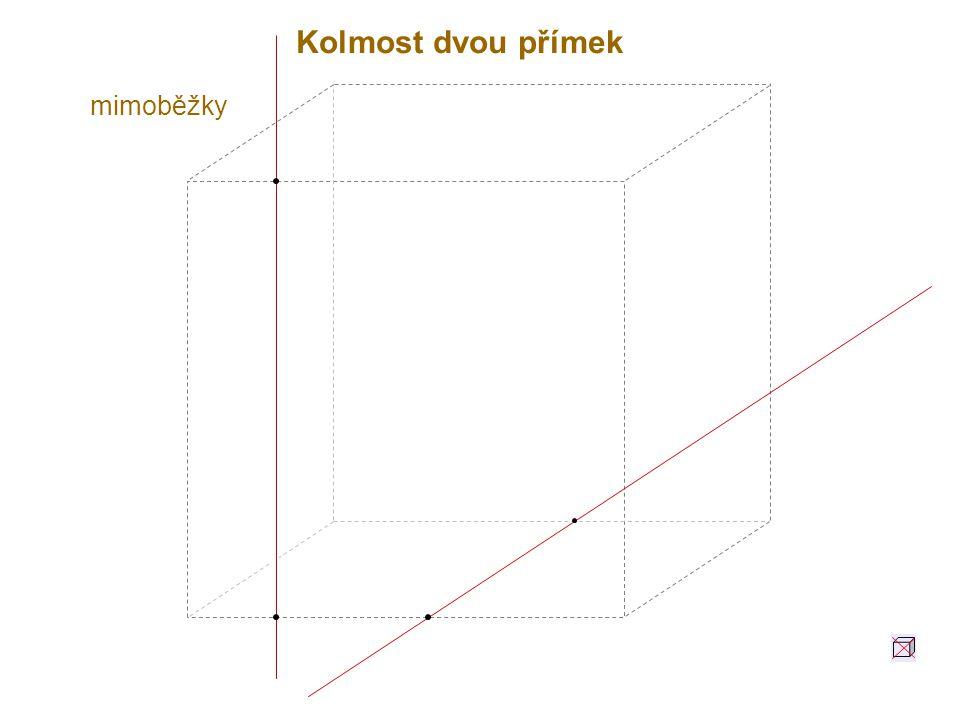 Dvě roviny jsou navzájem kolmé, jestliže jedna z nich obsahuje alespoň jednu přímku kolmou ke druhé rovině.