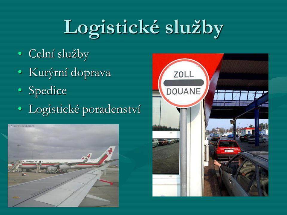Logistické služby Celní službyCelní služby Kurýrní dopravaKurýrní doprava SpediceSpedice Logistické poradenstvíLogistické poradenství