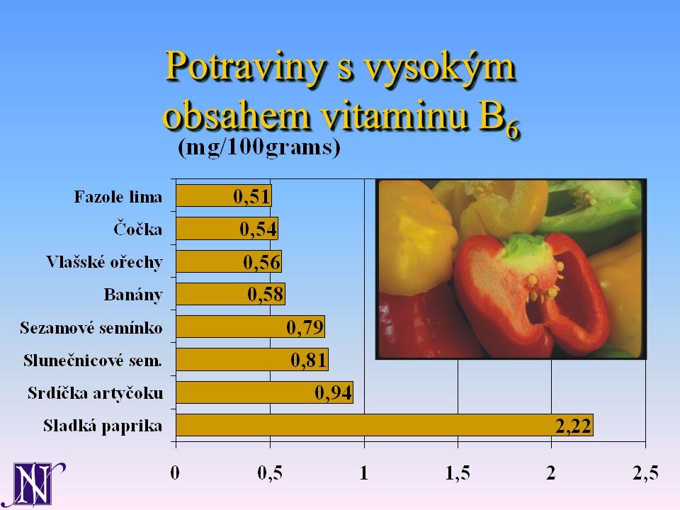 Potraviny s vysokým obsahem vitaminu B 6