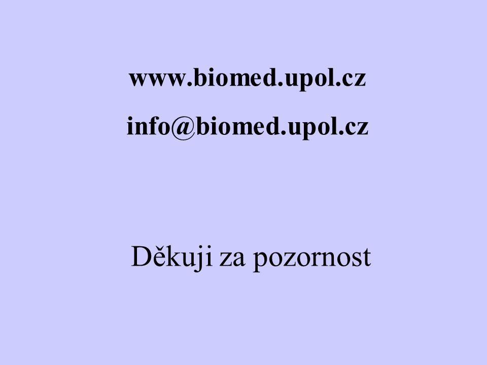 www.biomed.upol.cz info@biomed.upol.cz Děkuji za pozornost