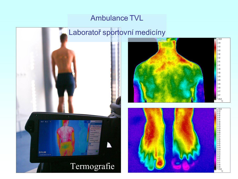 Termografie Ambulance TVL Laboratoř sportovní medicíny