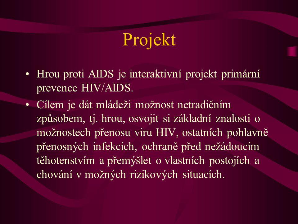 Projekt Hrou proti AIDS je interaktivní projekt primární prevence HIV/AIDS.