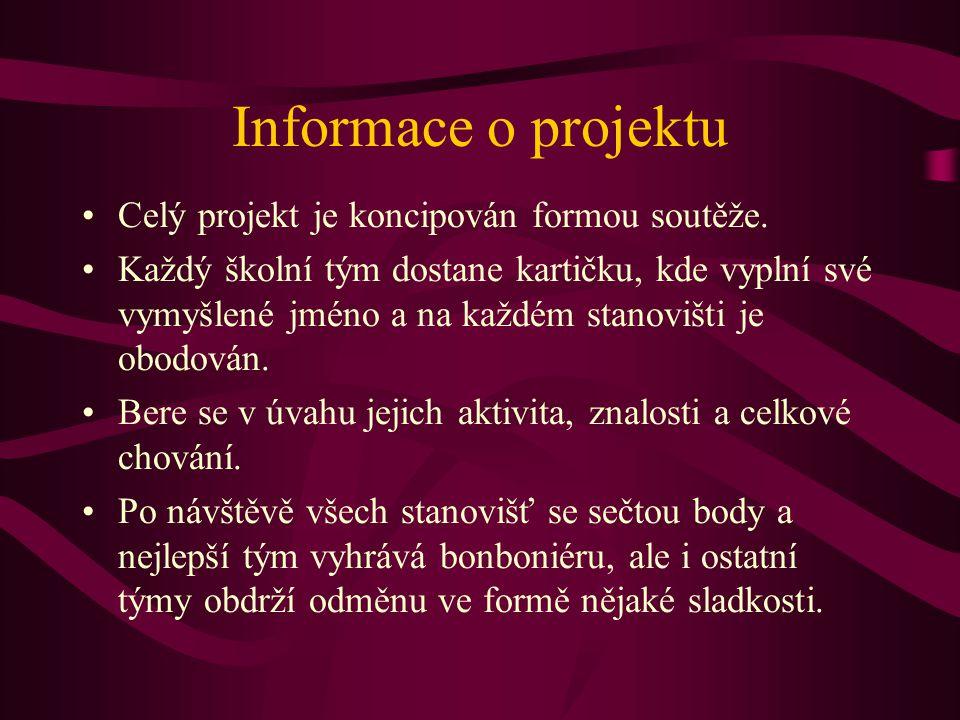 Informace o projektu Celý projekt je koncipován formou soutěže.