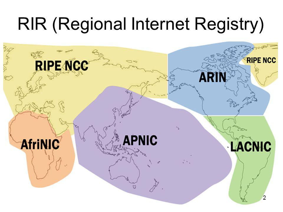 RIR (Regional Internet Registry) 2