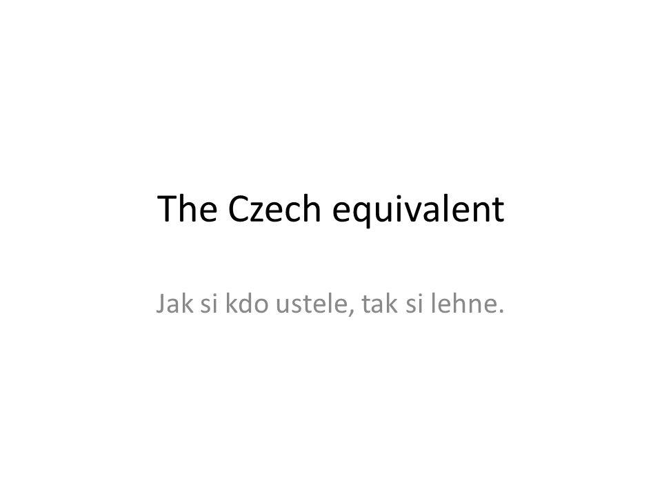 The Czech equivalent Jak si kdo ustele, tak si lehne.