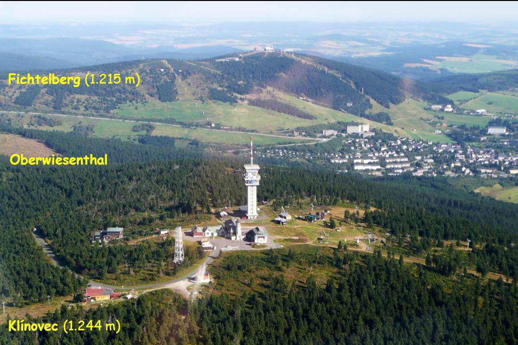Fichtelberg (1.215 m) Klínovec (1.244 m) Oberwiesenthal