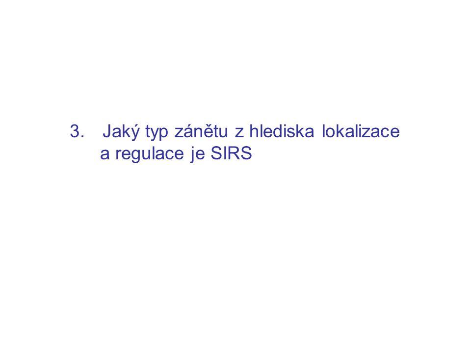3. Jaký typ zánětu z hlediska lokalizace a regulace je SIRS