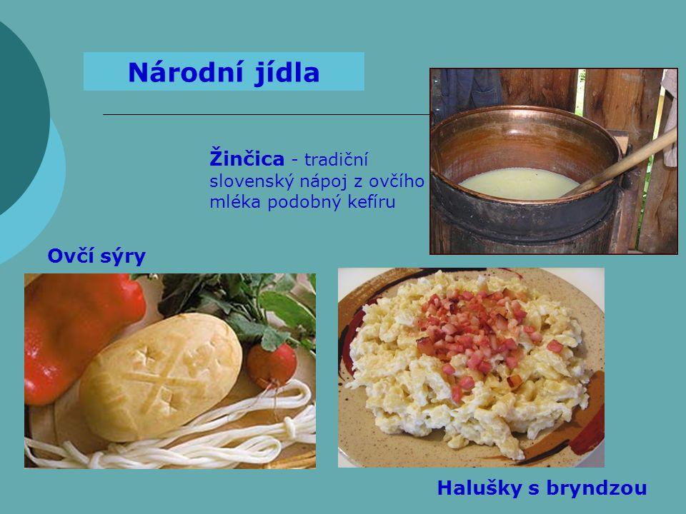 Žinčica - tradiční slovenský nápoj z ovčího mléka podobný kefíru Národní jídla Ovčí sýry Halušky s bryndzou