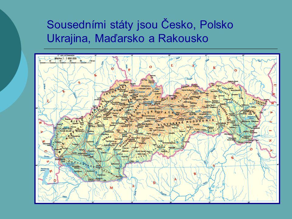 Sousedními státy jsou Česko, Polsko Ukrajina, Maďarsko a Rakousko