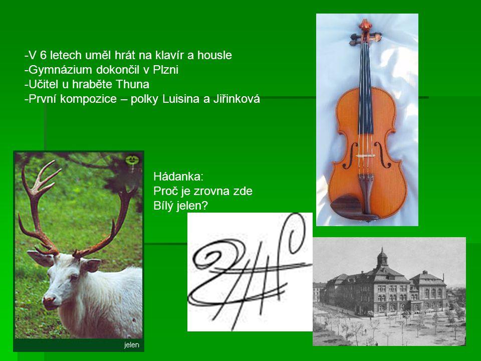 1848 si v Praze otevřel hudební školu 1856 odešel do Goteborgu jako učitel 1866 se stal dirigentem Prozatimního divadla Smetana se svou druhou ženou Bettinou