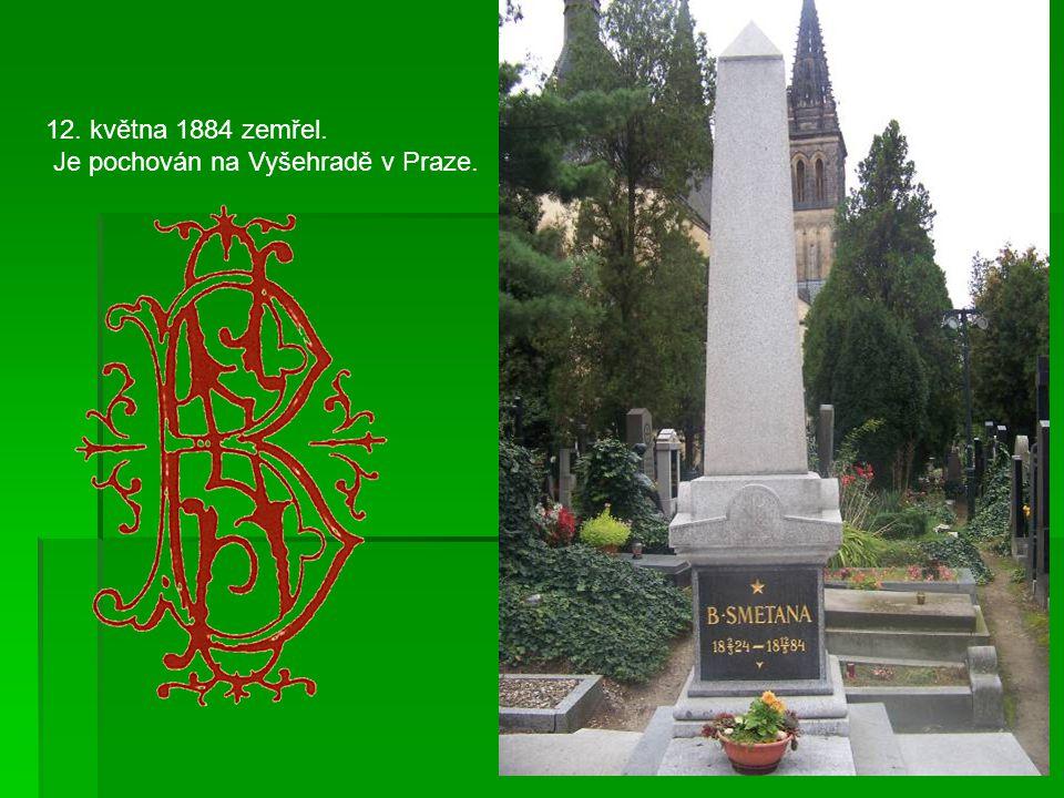 12. května 1884 zemřel. Je pochován na Vyšehradě v Praze.