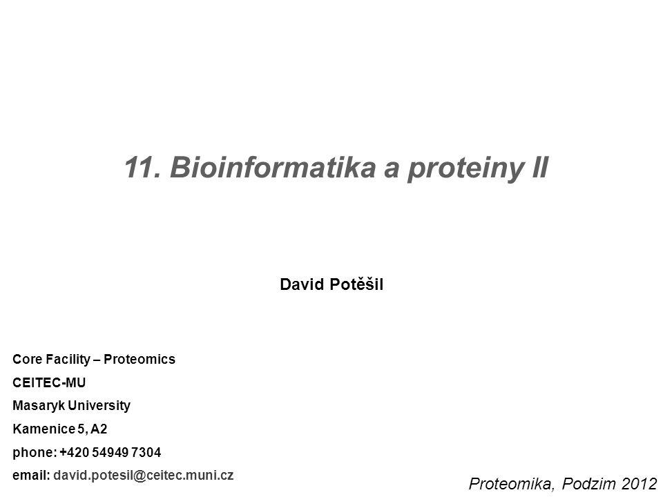 12 Proteinová evoluce a proteinové domény – příklad P K Pr C E přidání P K P Pr inzerce Pr K P C P C K P C K duplikace delece 2× inzerce Pr P C E E K K prarodiče (ancestors) proteinová evoluce v čase a událostech 2.