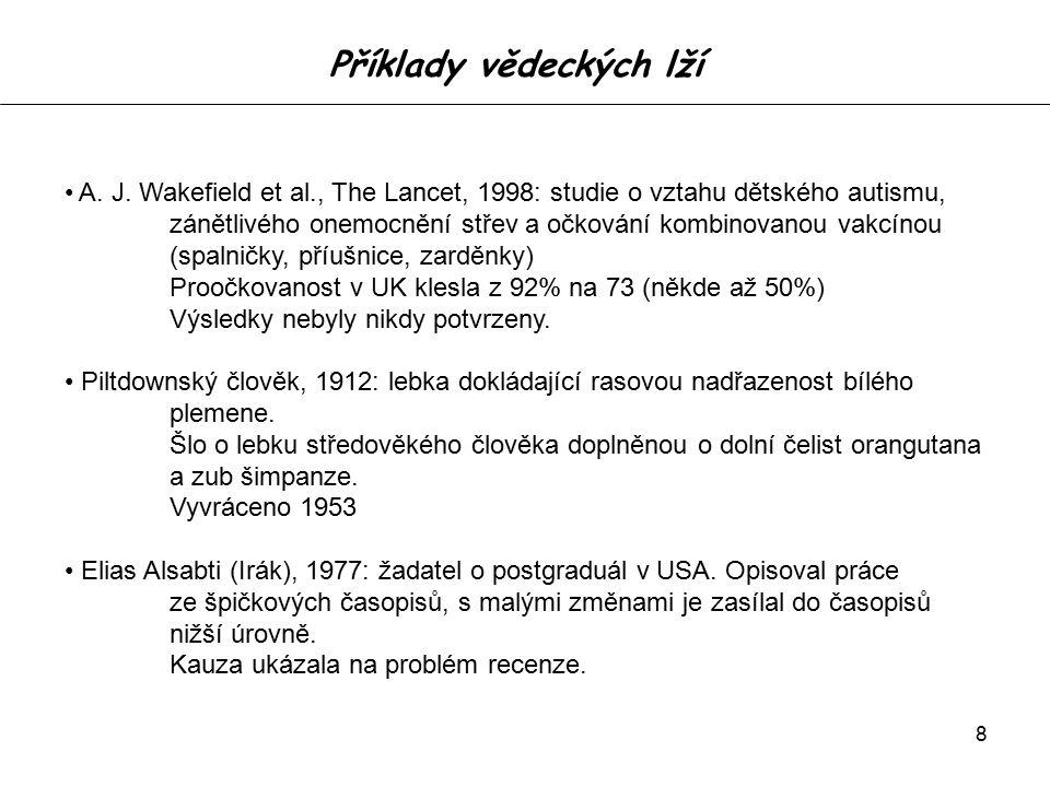 9 Publish or perish.Výzkum D. Fanelliové, Univ.
