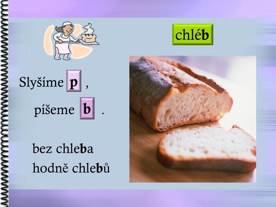 Slyšíme, píšeme. chlé b bez chle b a hodn ě chle b ů p b
