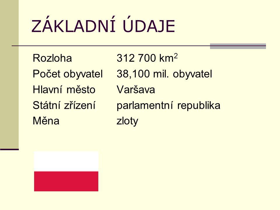 ZÁKLADNÍ ÚDAJE Rozloha312 700 km 2 Počet obyvatel38,100 mil.