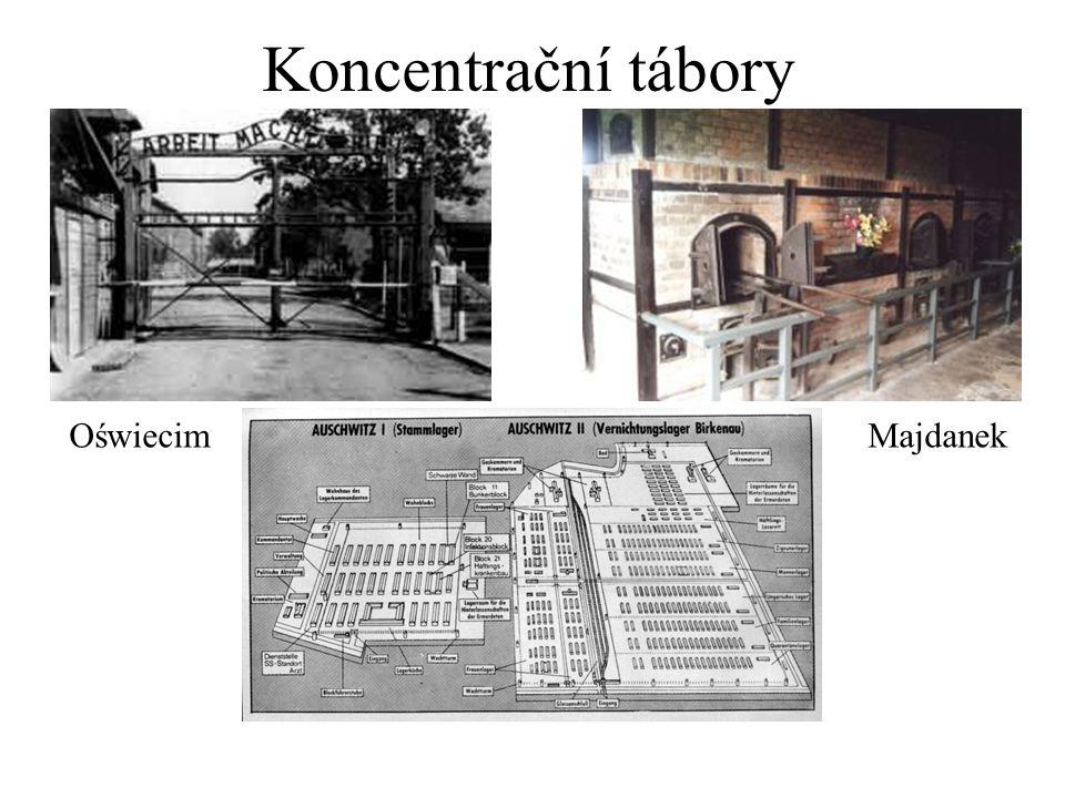 Koncentrační tábory OświecimMajdanek