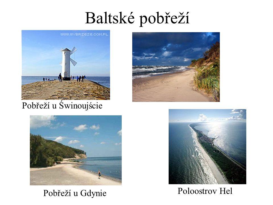 Baltské pobřeží Pobřeží u Świnoujście Pobřeží u Gdynie Poloostrov Hel