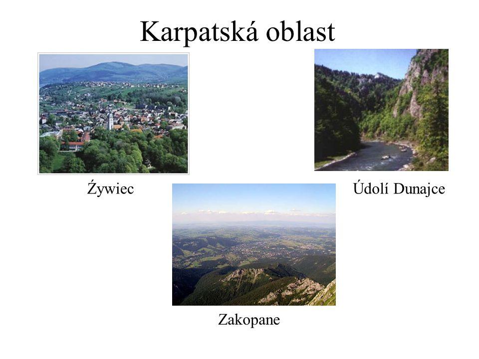 Karpatská oblast Źywiec Zakopane Údolí Dunajce