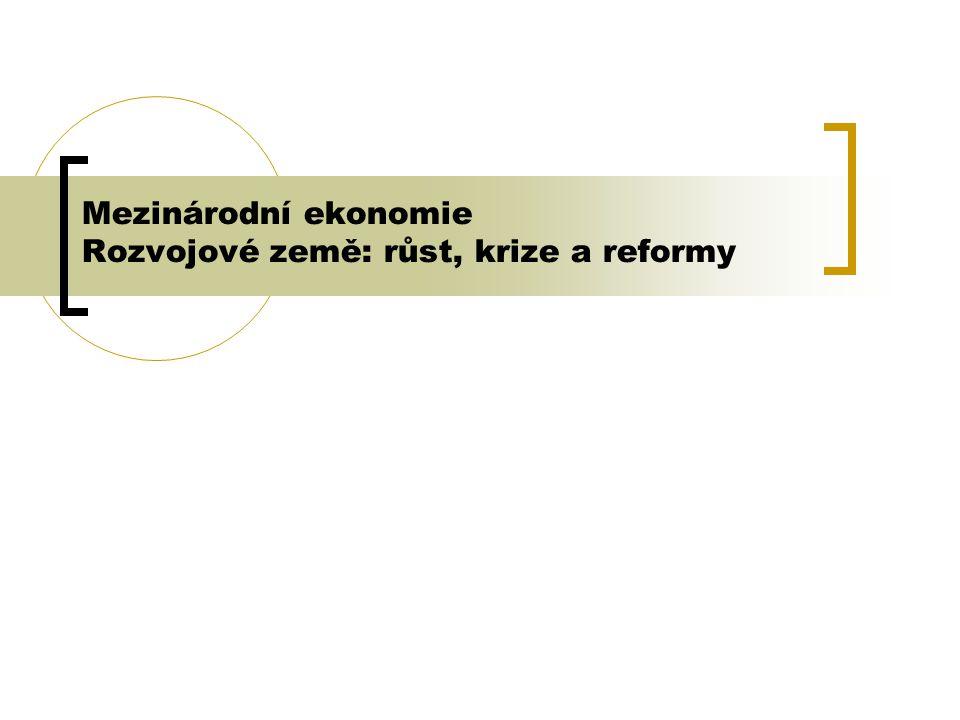 2 Obsah 1.Konvergence 2. Zadlužování rozvojových zemí 3.
