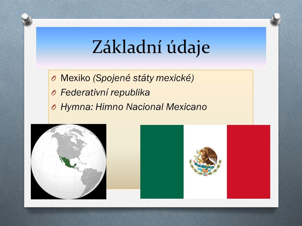 Základní údaje O Mexiko (Spojené státy mexické) O Federativní republika O Hymna: Himno Nacional Mexicano Odkaz