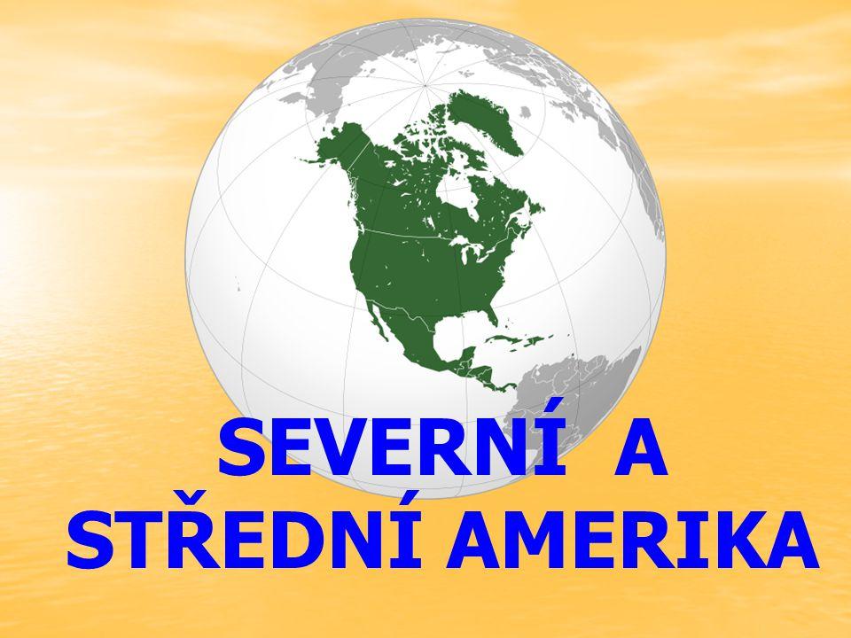 je světadíl nacházející se zcela na západní a severní polokouli rozloha :24 709 000 km 2 počet obyvatel :528 720 588 (2008) počet států23 + 21 závislých území regiony :Severní Amerika Střední Amerika Karibik zalidnění :USA (300 mil.) Mexiko (112 mil.) Kanada (10 mil.)